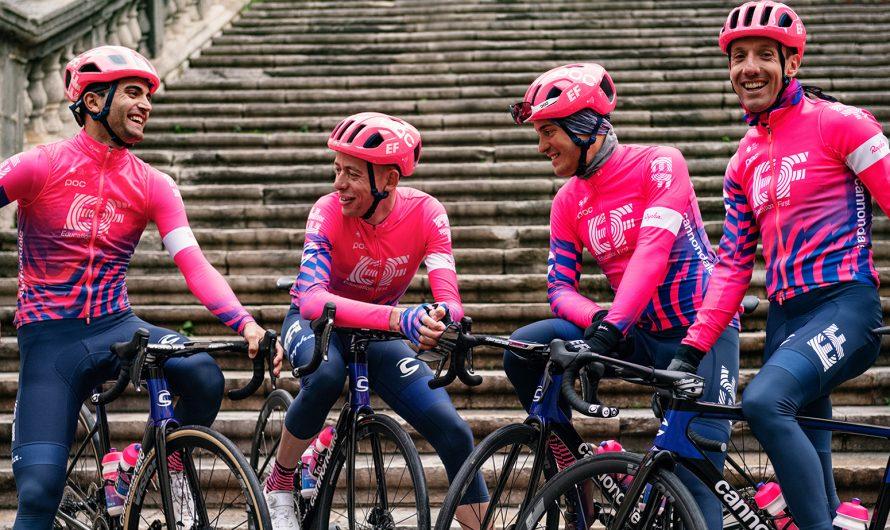El objetivo de EF Education First es 'interrumpir' el pelotón profesional con un kit rosa brillante