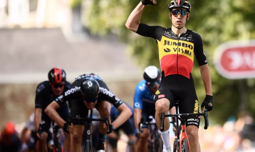 Wout van Aert gana la primera etapa del British Tour 2021